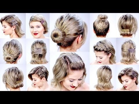 11 Super Easy Hairstyles With Bobby Pins For Short Hair Milabu