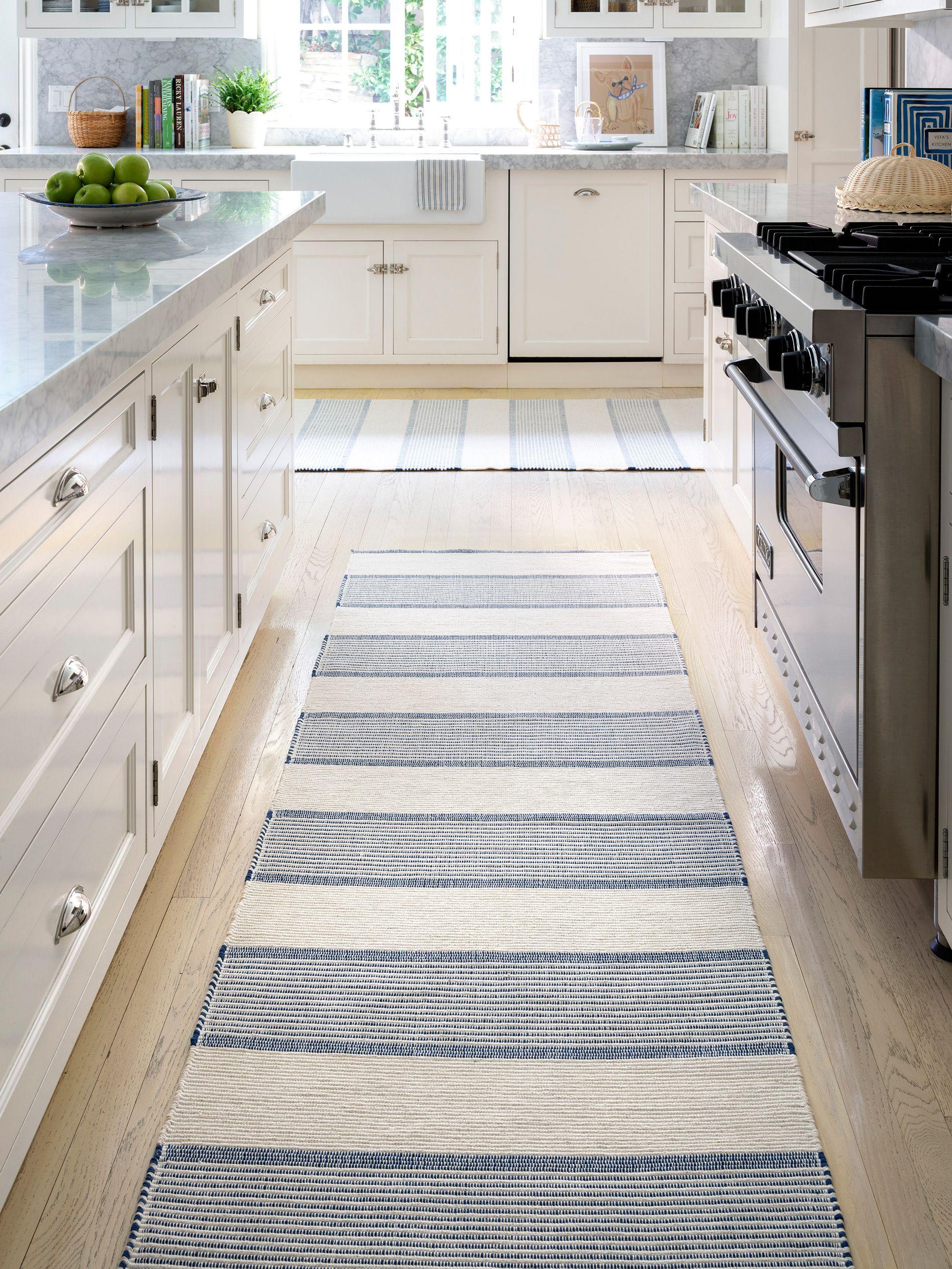 La Mirada Navy Woven Cotton Rug Dash Albert Kitchen Rug Rugs Rugs On Carpet