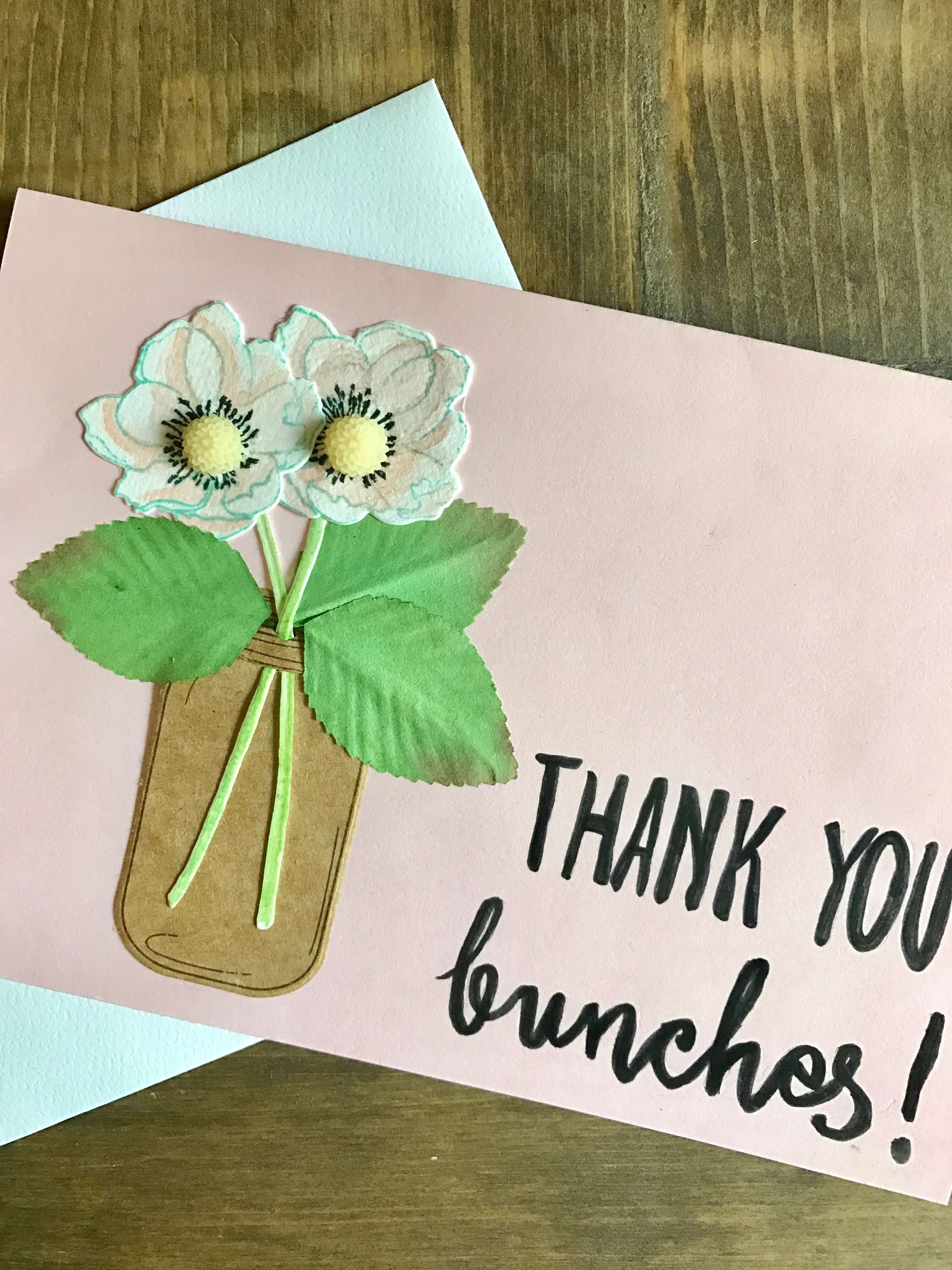 Simple Thank You Card Diy Everyday Party Magazine Thank U Cards Diy Cards Flower Cards