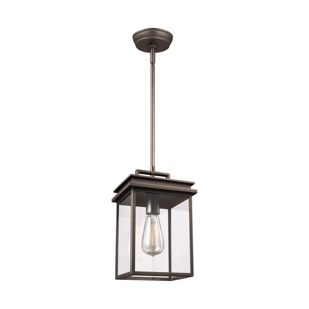 Feiss Glenview 1 Light Antique Bronze Outdoor Hanging Pendant Lantern Ol13609anbz Outdoor Pendant Lighting Lantern Pendant Lighting Lantern Pendant