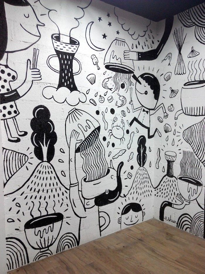 Gardensilly 2014 View All Projects Cafe Wall Art Mural Cafe Mural Wall Art
