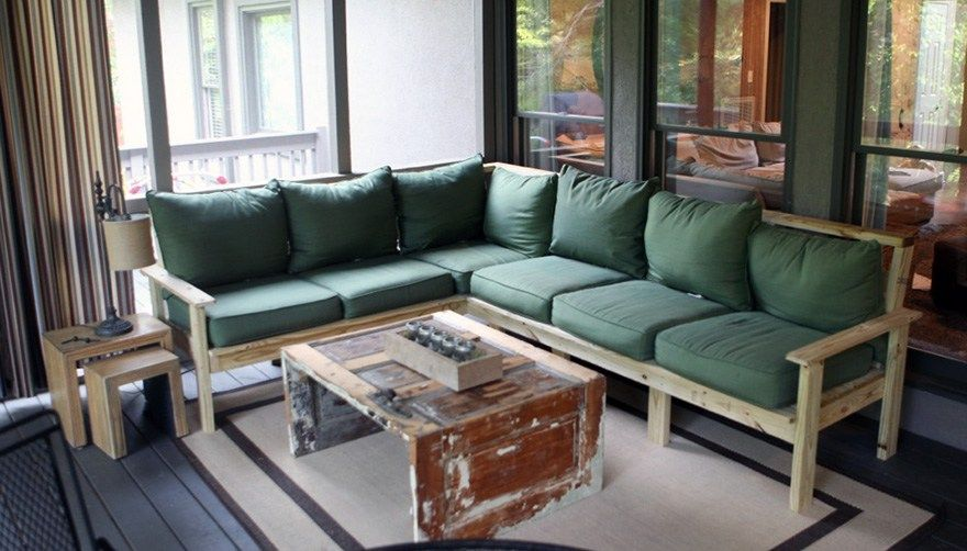 How To Make An Outdoor Sectional Diy Outdoor Couch Outdoor