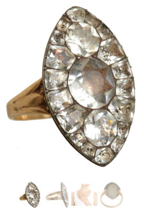 f5392e789ceb oliva collins antique jewelry - paste marquis ring