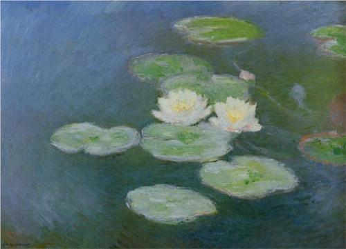 Water Lilies, Evening Effect - Claude Monet