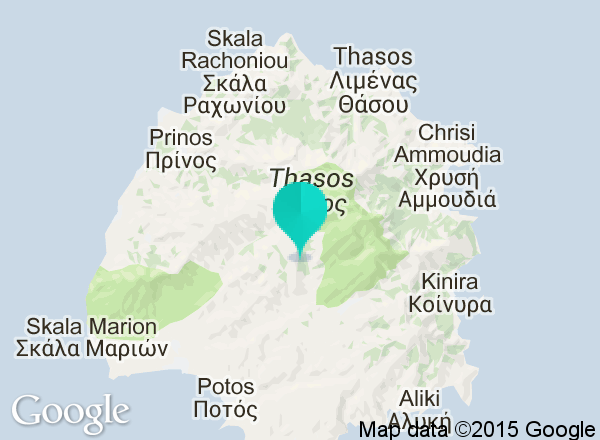 A map of Thassos Island Greek Islands Ive been and feel in love