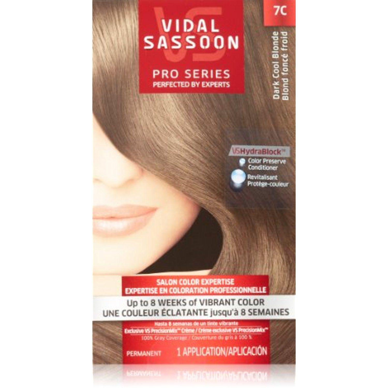 Vidal Sassoon Pro Series Hair Color C Dark Cool Blonde  Kit