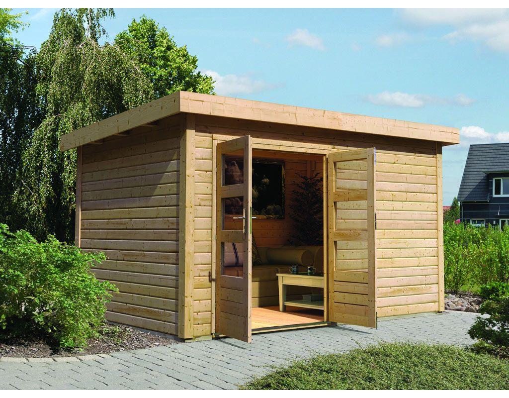 Gartenhaus Quot Dievenmoor Quot 40 Mm Naturbelassen 761100 Gartenhaus Karibu Gartenhaus Haus