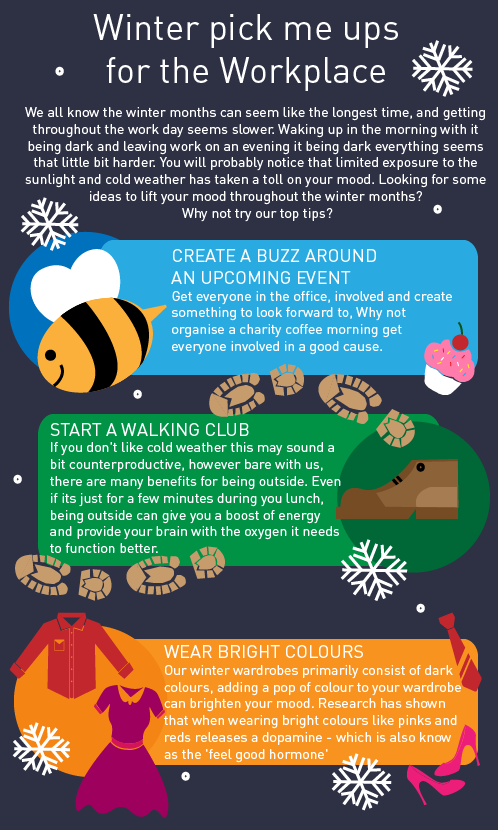 Winter workplace - top tips - Infograpics