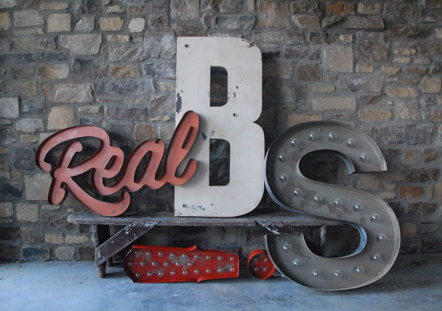 Custom lettering from Sideshow Signs