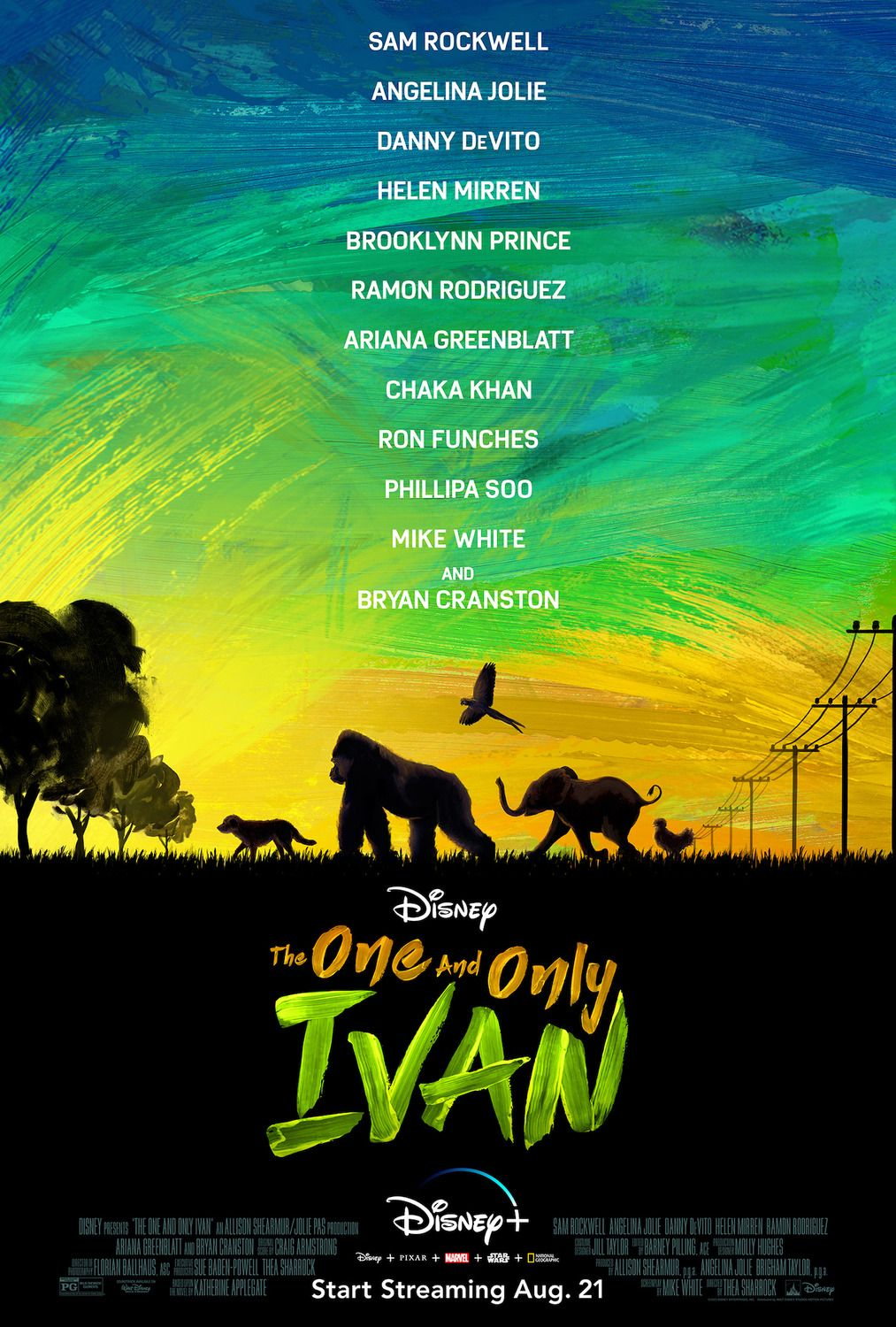 Pin By World Wide On Posters One And Only Ivan Bryan Cranston Disney Plus