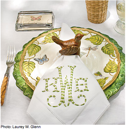 love these monogrammed napkins
