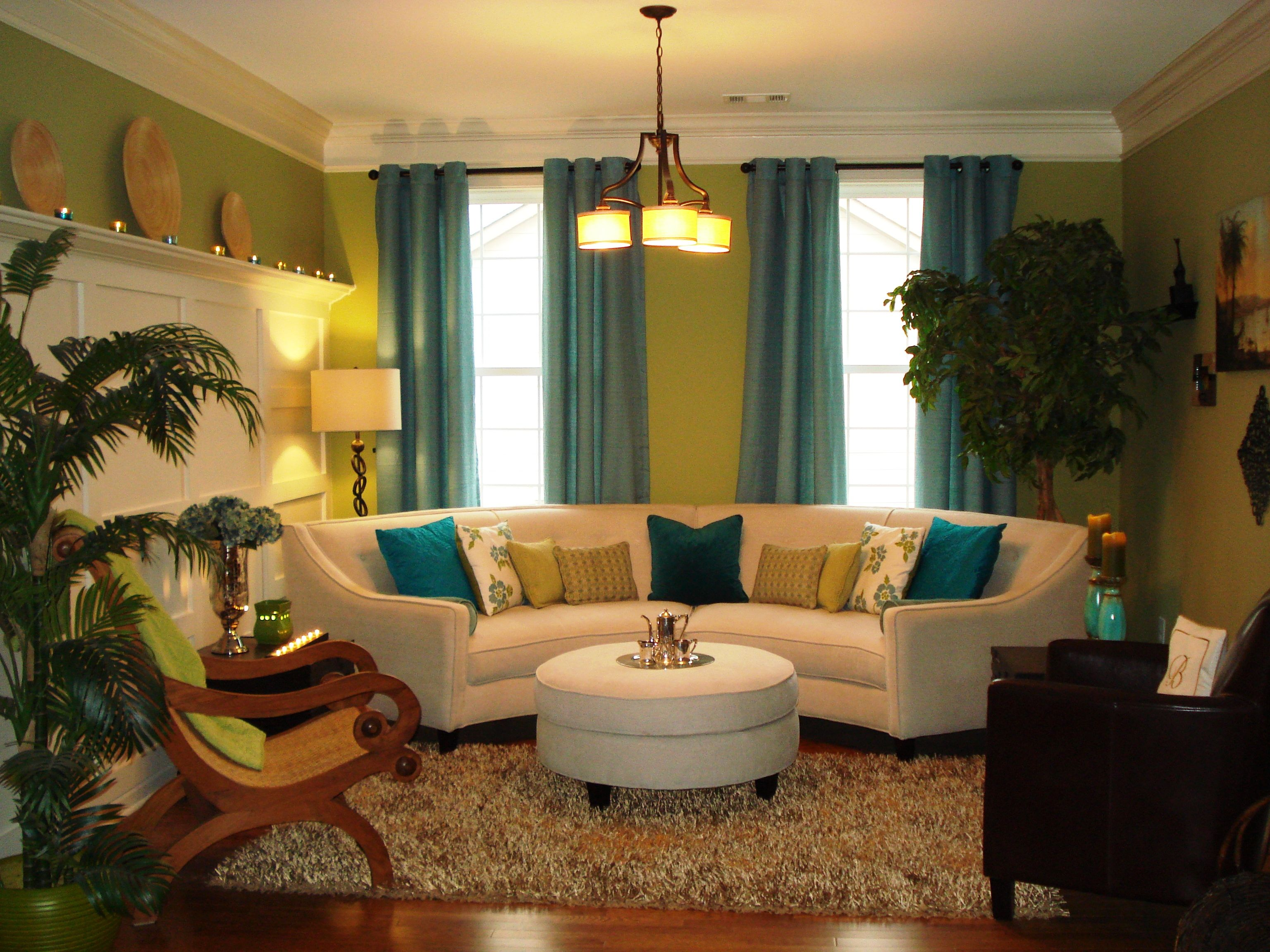 this is my lime green formal living room  green walls