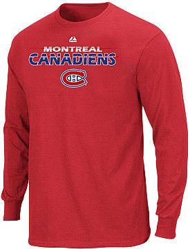 Majestic Montreal Canadiens Big & Tall Thread Long Sleeve T-Shirt  - Shop.Canada.NHL.com