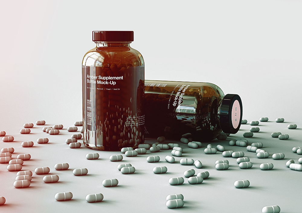 Pill Bottle Bottle Mock Up Vitamins Bottle On Behance Pill Bottles Pill Bottle