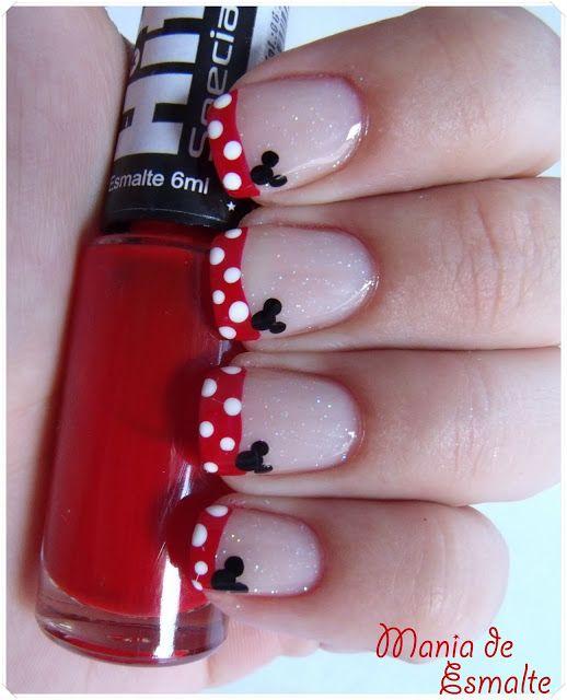 Mania de Esmalte: Nail Art Minnie | Nails! | Pinterest | Minnie ...