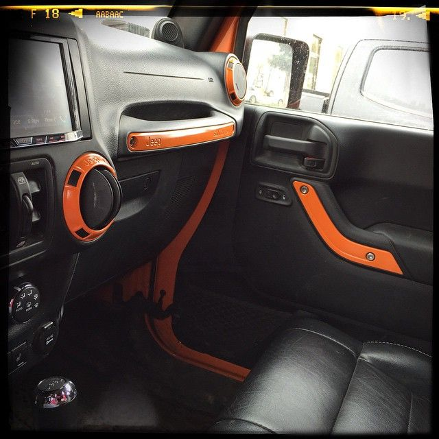 Color Matched Interior Hellcat Orange Jeep Jk Orange Jeep Jeep Wrangler Interior Orange Jeep Wrangler