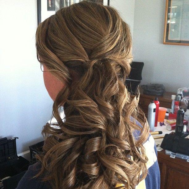Bridesmaid Curly Low Side Ponytail Updo Jamiewarzel