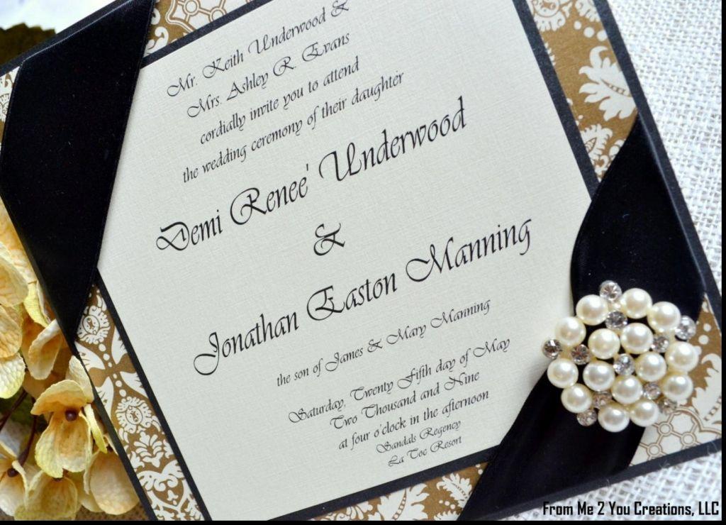 african american wedding glamorous invitations - African American Wedding Invitations