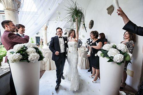 Matrimonio civile a Castello degli Angeli #wedding #happiness #chiostro #allestimento