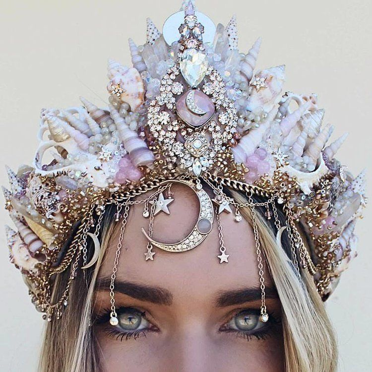 Wedding Mermaid Crown — Chelseas Flowercrowns