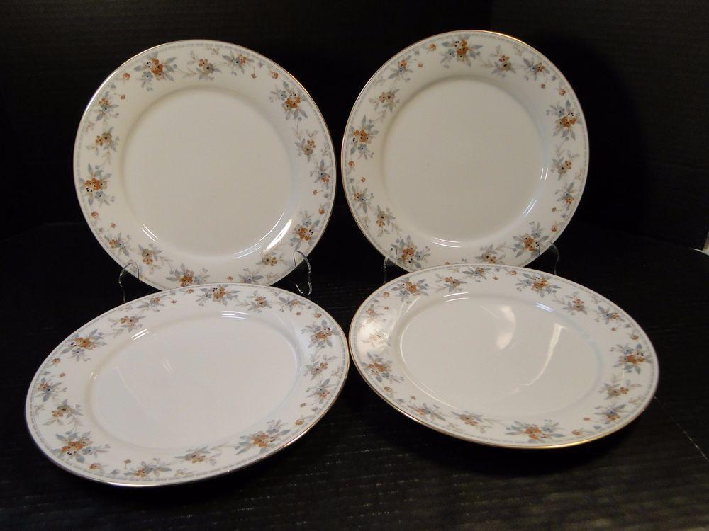 Noritake Legendary Secret Love Dinner Plates 3481 10 1/2  FOUR EXCELLENT! # Noritake & Noritake Legendary Secret Love Dinner Plates 3481 10 1/2
