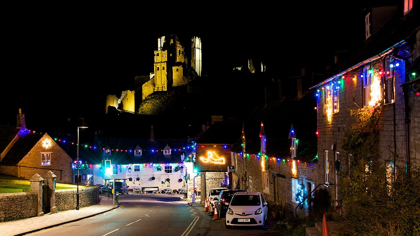 Corfe Castle Corfe Castle Lights Christmas Lights