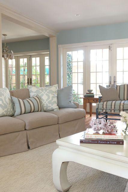 beach cottage island living interiors interior coastal balboa decorating colors paint decor summer palette stiles brittany rooms freshening furniture livingroom
