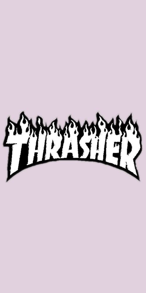 Thrasher Iphone Tumblr Wallpaper Aesthetic Background Pink Love