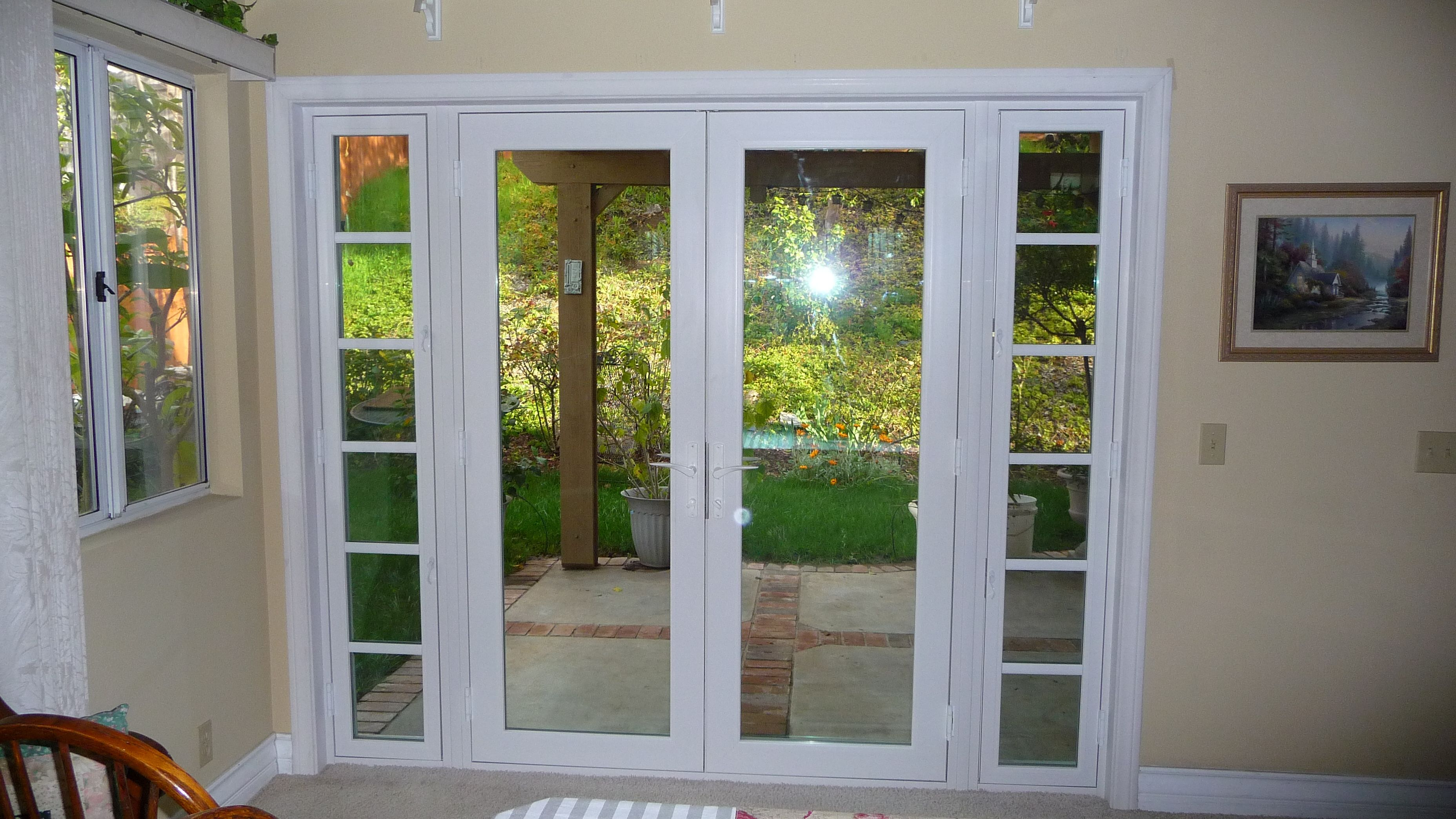 Double Patio Doors With Sidelights French Doors Exterior French Doors French Doors Patio