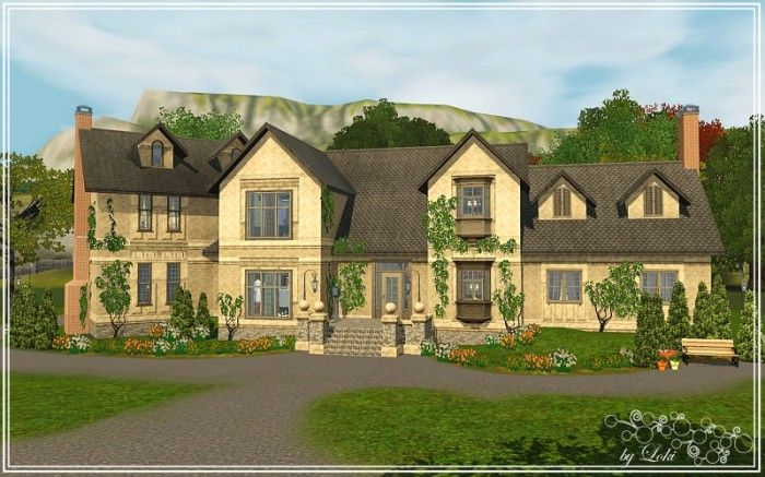 Earl Grey Mansion By Loki Sims 3 Downloads Cc Caboodle Sims 3 Houses Ideas Mansions Sims 3 Mansion