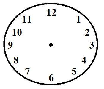 Free Blank Analog Clock Clock Schedule Cards Blank Clock