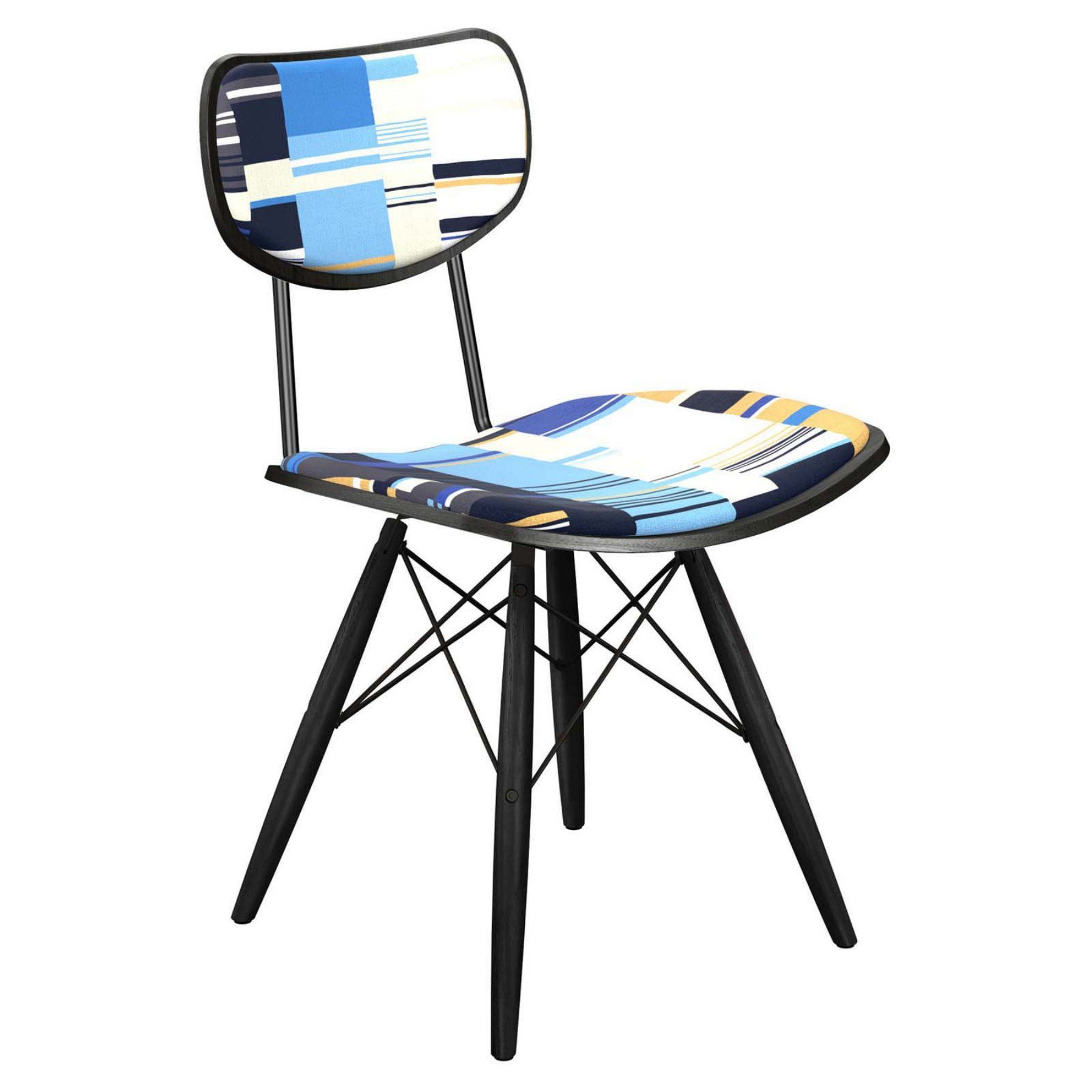 Nyekoncept Harvey Blue Stream Dowel Dining Chair  16004218