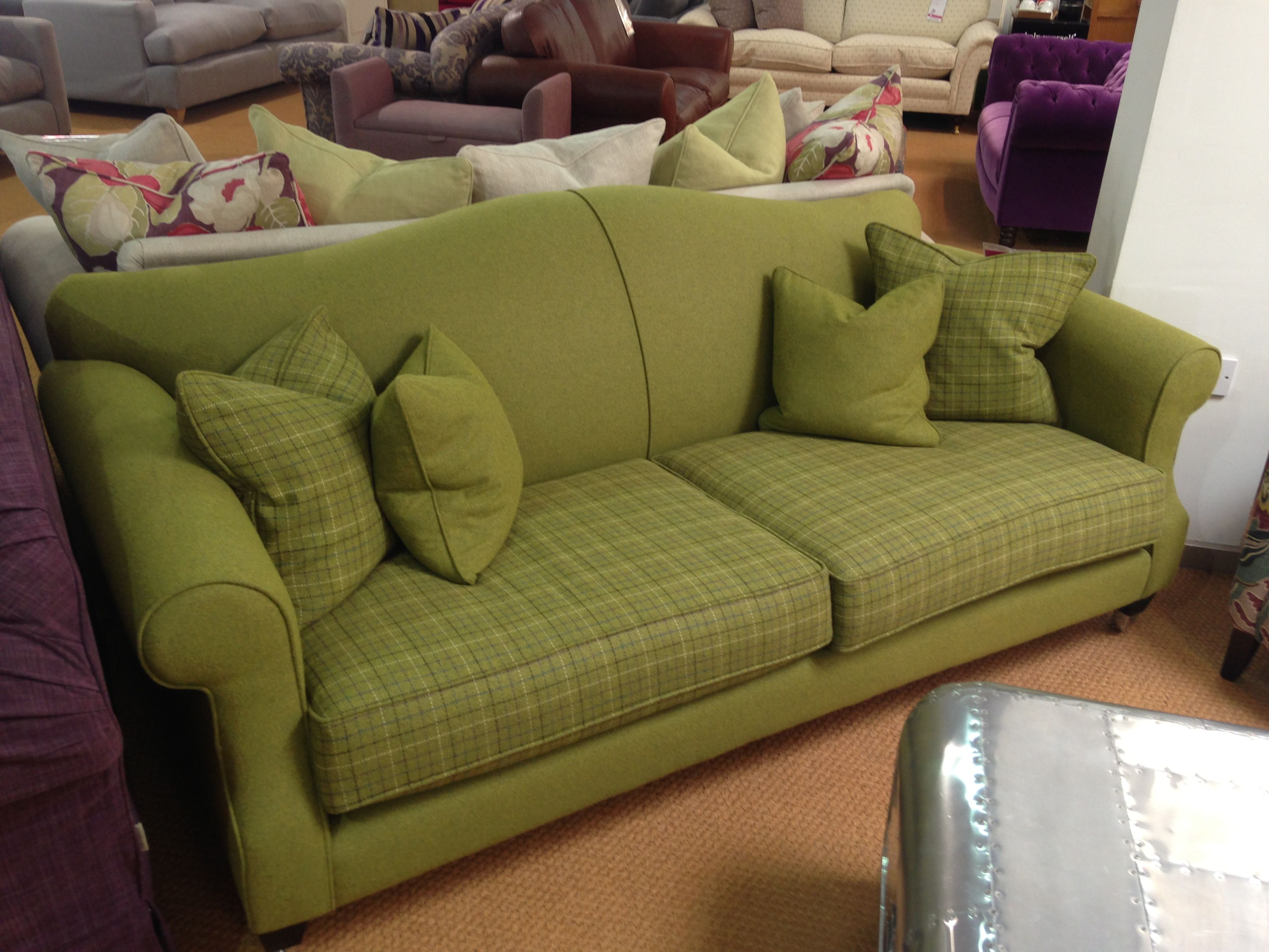 Dashing Duke sofa in Designers Guild Cheviot Plain & Tweed