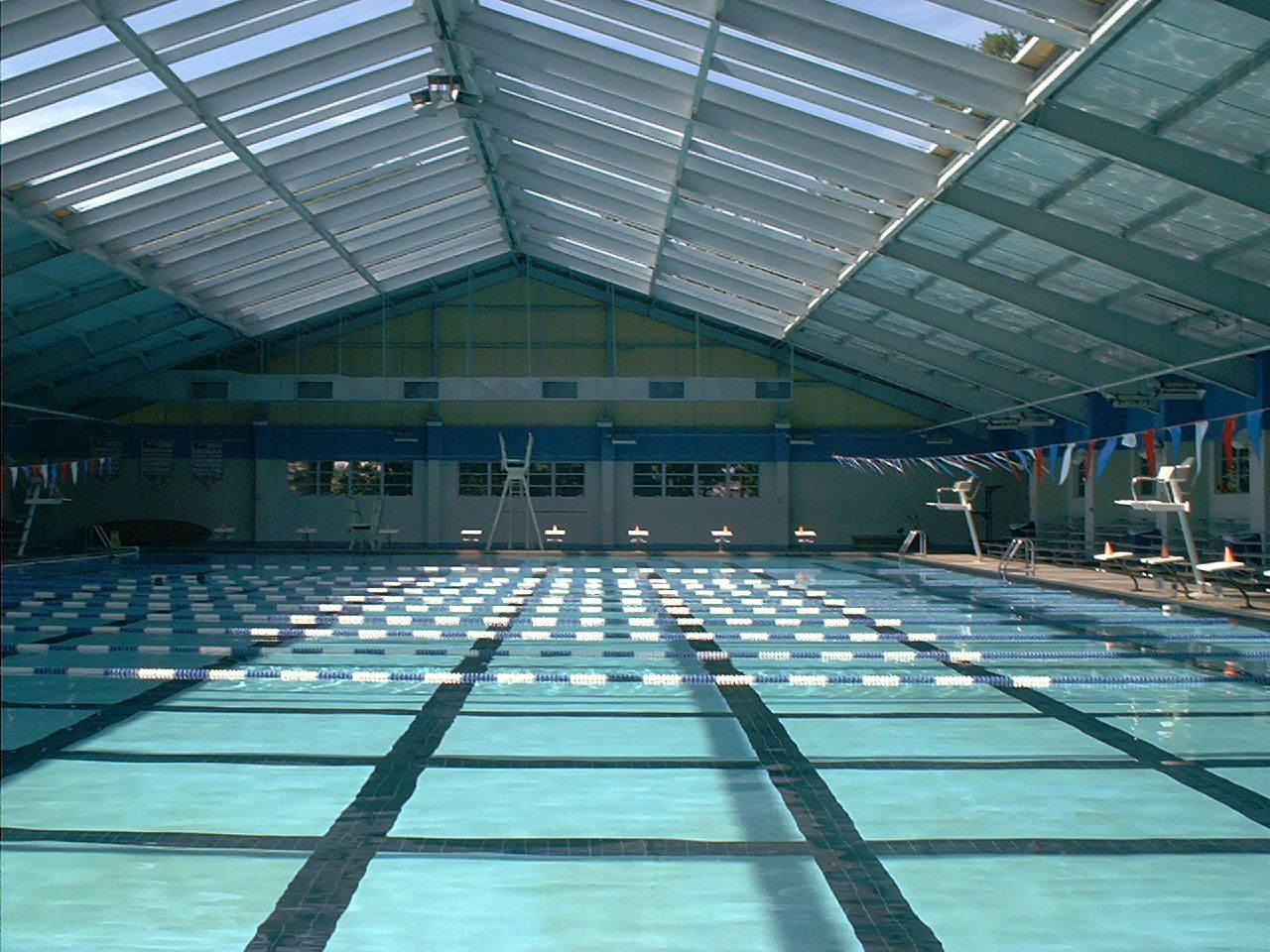 The biloxi natatorium is an olympic size pool 50 meters long by 25 yards wide with a shallow for How deep is a olympic swimming pool