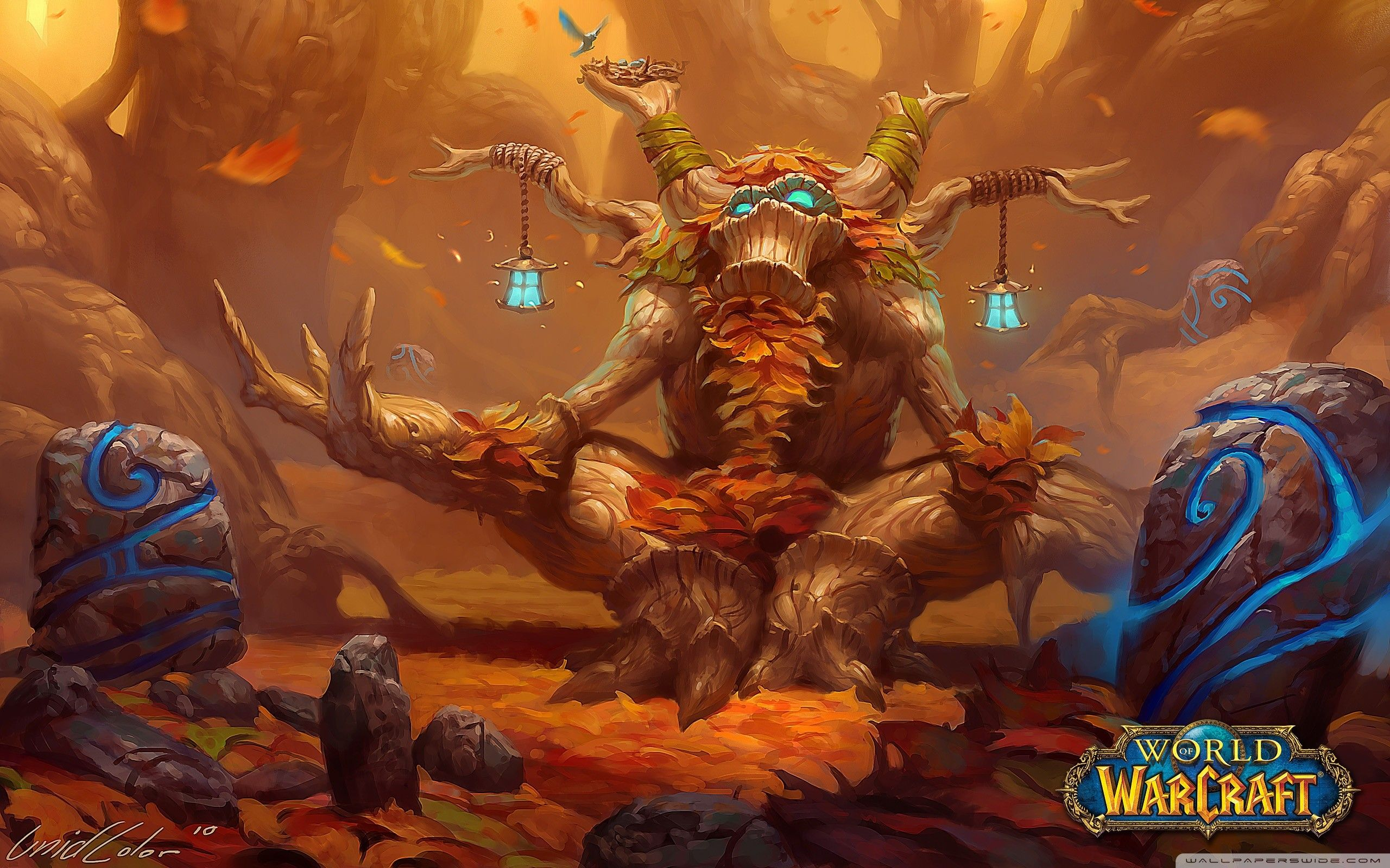 Res 2560x1600 Wide World Of Warcraft Druid World Of Warcraft Wallpaper Warcraft Art
