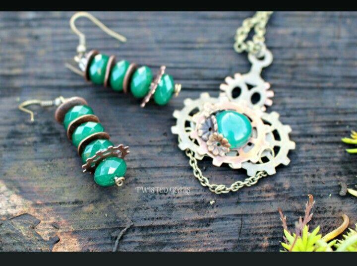 https://www.etsy.com/listing/176486044/emerald-green-steampunk-set
