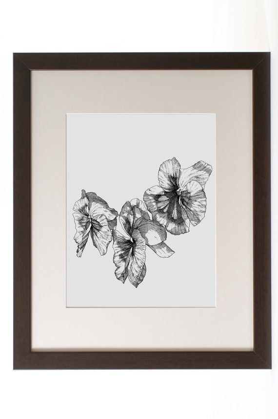 Ink Flower Drawing Ink Drawing Pansies Floral Art by REdeFINEART #drawing #flowers #homedecor #wallart #shoplocal #illustration