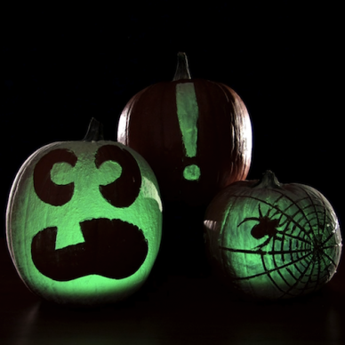 Glowing Pumpkins Halloween Science Halloween science