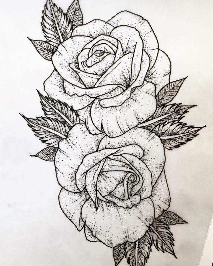 Here Are Roses Tattoo Template Here Are Two Big White Roses Tattoo Little Tattoos Desenho De Rosas Coisas Para Desenhar Tatuagem Inspiradora
