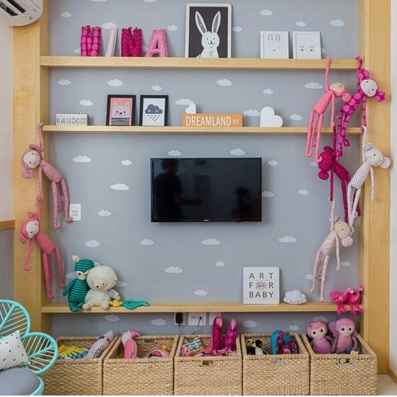 Disposi o de cestos e estante recamaras para ni os for Decoracion habitacion infantil montessori