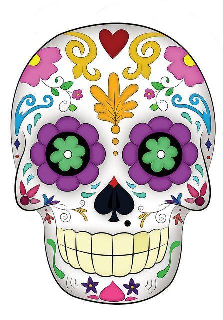 Calavera Mask In Color Bag Textile Technique Dibujo Dia De