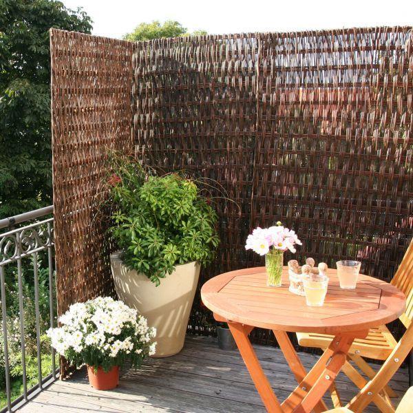 Sichtschutzwand Weide Toulouse, naturbelassen #balconyprivacy
