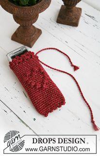 """Bolso y funda para el móvil DROPS a ganchillo en """"Cotton Viscose"""" y """"Glitter"""". ~ DROPS Design"""