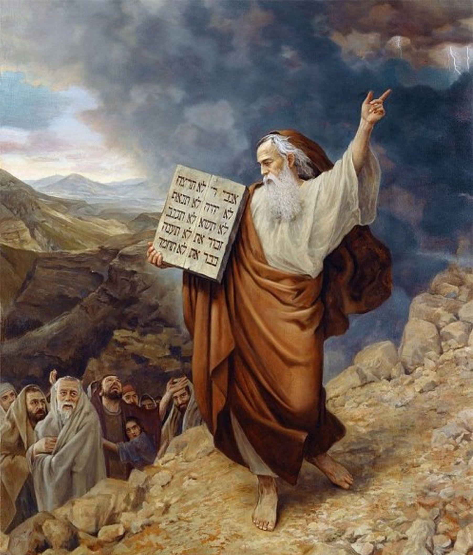 Slava Groshev Moisés no Monte Sinai | Art 2 in 2019 | Biblical art