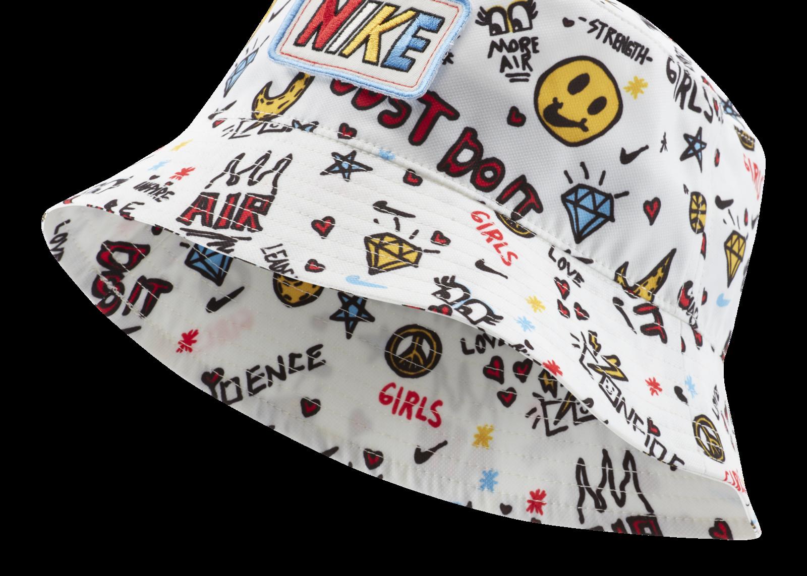 Nike Partners With 9 Year Old Designer Dear Giana For A Girl Power Sportswear Collaboration Bucket Hat Fashion Cute Hats Kids Bucket Hat