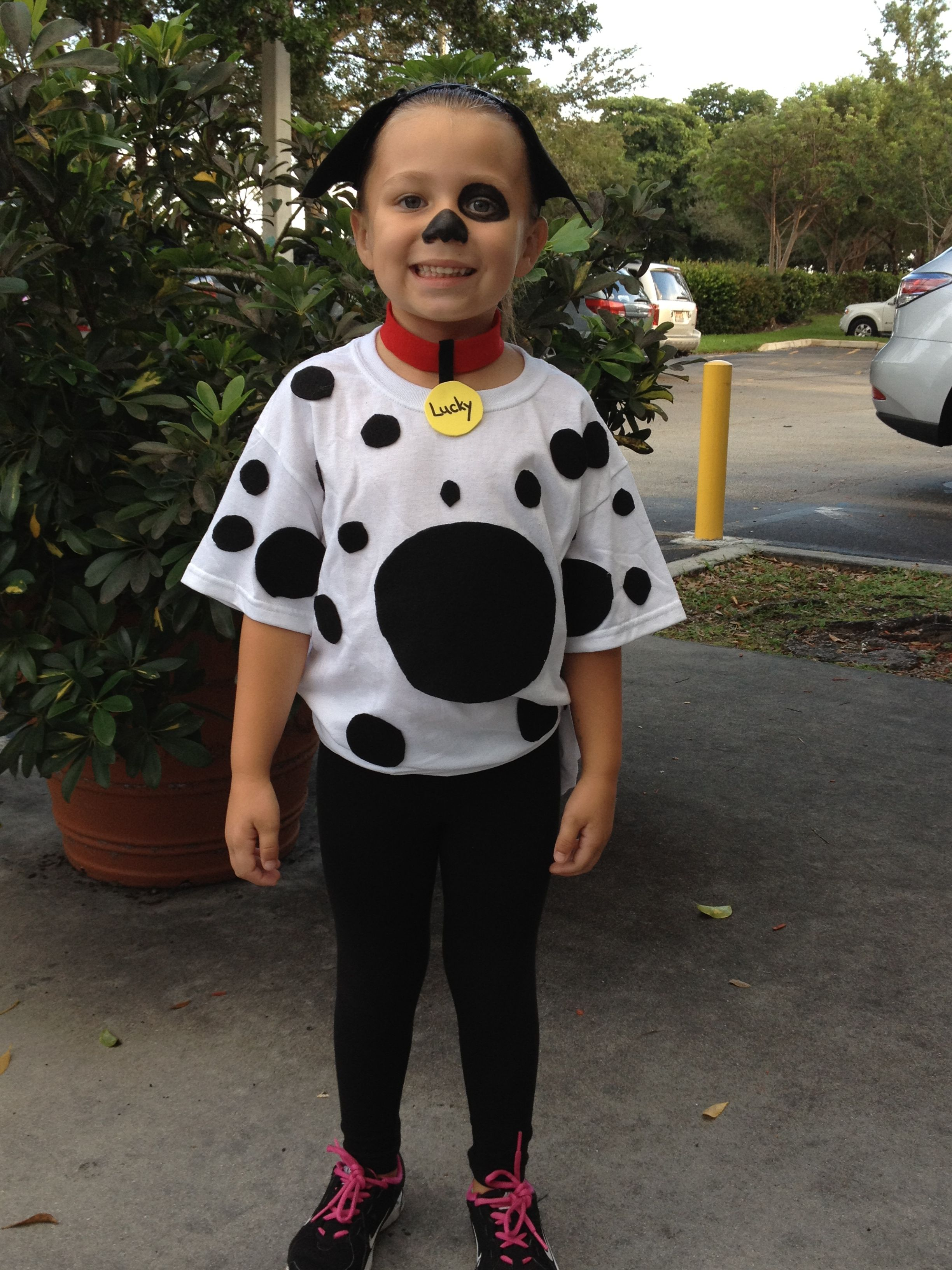 Homemade Dalmatian costume Puppy costume for kids