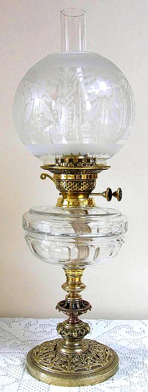 Clear Cut Glass Lamp With Superior Stand  this is so pretty