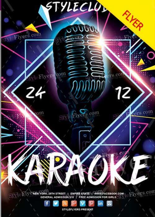 Download Karaoke V17 2017 Psd Flyer Template Free Nulled Disenos