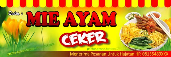 Contoh Spanduk Mie Ayam Ceker - desain spanduk kreatif