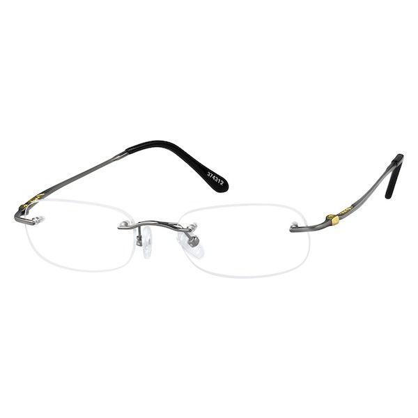 68d9b0b76f3b Gray Titanium Rimless Glasses #374312 | Zenni Optical Eyeglasses ...